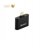 Аудио-переходник Lightning - AUX 3.5 мм jack Baseus L39 IP To Double IP Socket Adapter 2-1 INTERFACE (2 порта Lightning), цвет черный