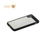 Пластиковый чехол накладка для iPhone X Baseus ARAPIPHX-SB01 Suthin Case, цвет прозрачный с силиконовым черным бортом