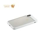 Пластиковый чехол накладка для iPhone X Baseus ARAPIPHX-SB02 Suthin Case, цвет прозрачный с силиконовым белым бортом