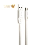 MicroUSB кабель Remax Full Speed series RC-001m плоский (2.0 м), цвет белый