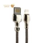 Lightning кабель USB Remax King Data Cable fast charging (2.1A) круглый (1.0 м), цвет черный