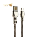 MicroUSB кабель Remax King Data Cable (RC-063m) fast charging 2.1A круглый (1.0 м), цвет черный