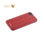 Кожаная накладка для iPhone 8 Santa Barbara Polo & Racquet Club Armor Series, цвет красный