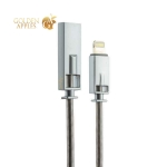 Lightning кабель USB Remax Royalty Cable fast charging (2.1A) круглый (1.0 м), цвет серебристый