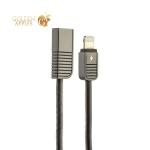 Lightning кабель USB Remax Linyo Series Cable (2.1A) круглый (1.0 м), цвет черный
