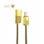 Lightning кабель USB Remax Linyo Series Cable (2.1A) круглый (1.0 м), цвет золотистый