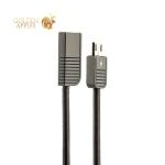 MicroUSB кабель Remax Linyo Series Cable (RC-088m) 2.1A круглый (1.0 м), цвет черный