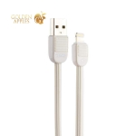 USB дата-кабель Remax Puff (RC-045i) LIGHTNING 2.0A плоский (1.0 м) Белый