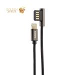 USB дата-кабель Remax Emperor Series Cable (RC-054i) LIGHTNING 2.1A круглый (1.0 м) Черный