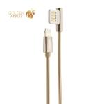 USB дата-кабель Remax Emperor Series Cable (RC-054i) LIGHTNING 2.1A круглый (1.0 м) Золотистый
