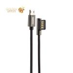 USB дата-кабель Remax Emperor Series Cable (RC-054m) MicroUSB 2.1A круглый (1.0 м) Черный