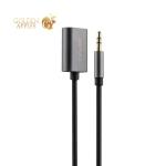 Аудио-переходник Remax RL-S20 AUX на два входа 3,5 мм (0.25m) Черный