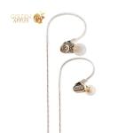 Наушники Remax RM-580 Dual Moving-Coil Earphone Gold Золотые