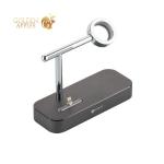 Док-станция&USB-концентратор COTEetCI Base (B18)MFI для Apple Watch & iPhone XS/ 8 Plus/ SE 2in1 stand (CS7200-GY) Графитовая