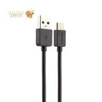 USB дата-кабель Remax Light Cable (RC-006a) Type-C 2.1A круглый (1.0 м) Черный