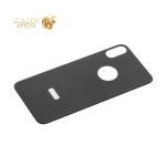 Стекло защитное 6D для iPhone XS заднее Black