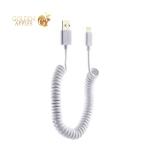 USB дата-кабель Deppa D-72225 витой 8-pin Lightning 2.0м Белый