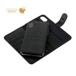 Чехол-книжка кожаный iCarer для iPhone X Leather Detachable 2в1 Wallet Folio Case (RIX03bl) Черный