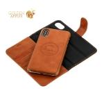 Чехол-книжка кожаный iCarer для iPhone X Leather Detachable 2в1 Wallet Folio Case (RIX03br) Коричневый