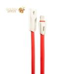 USB дата-кабель Hoco X4 Zinc Alloy rhombus Lightning (1.0м) Красный