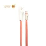 USB дата-кабель Hoco X4 Zinc Alloy rhombus Lightning (1.0м) Розовый