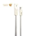 USB дата-кабель Hoco X4 Zinc Alloy rhombus MicroUSB (1.0м) Белый