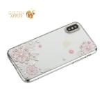 Чехол-накладка Kingxbar для iPhone XS пластик со стразами Swarovski 01C серебристый (Сновидение)