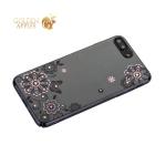 Чехол-накладка Kingxbar для iPhone 8 Plus пластик со стразами Swarovski 01C черный (Сновидение)