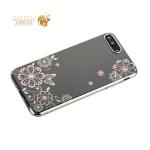 Чехол-накладка Kingxbar для iPhone 8 Plus пластик со стразами Swarovski 01C серебристый (Сновидение)