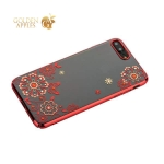Чехол-накладка Kingxbar для iPhone 8 Plus пластик со стразами Swarovski 01C красный (Сновидение)