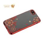Чехол-накладка Kingxbar для iPhone 8 пластик со стразами Swarovski 01C красный (Сновидение)