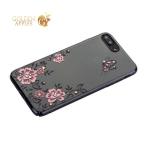 Чехол-накладка Kingxbar для iPhone 8 Plus пластик со стразами Swarovski 01C черный (Ванильное небо)