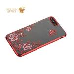 Чехол-накладка Kingxbar для iPhone 8 Plus пластик со стразами Swarovski 01C красный (Ванильное небо)