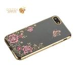 Чехол-накладка Kingxbar для iPhone 8 пластик со стразами Swarovski 01C золотистый (Ванильное небо)