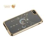Чехол-накладка Kingxbar для iPhone 8 пластик со стразами Swarovski 49C золотистый (Полумесяц со Звездой)