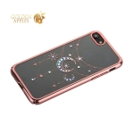 Чехол-накладка Kingxbar для iPhone 8 пластик со стразами Swarovski 49C розовое золото (Полумесяц со Звездой)