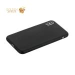 Чехол силиконовый для iPhone X уплотненный в техпаке (черный)