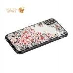 Накладка пластиковая Beckberg Pretty series для iPhone X со стразами Swarovski вид 1 Черный