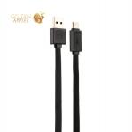 USB дата-кабель Remax Fast Cable (RT-C1) Type-C USB 3.0 плоский (1.0 м) Черный
