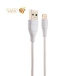 USB дата-кабель Aspor АC-02 8-pin Lightning (1.2m) круглый 2.1A Белый