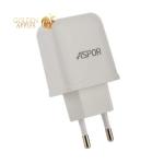 Сетевое зарядное устройство Aspor A829 (2USB: 5V 2.4A) белый