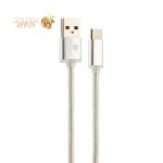 USB дата-кабель COTEetCI M20 NYLON series Type-C Cable CS2128-0.2M-TS (0.2m) Серебристый