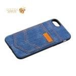 Чехол-накладка XOOMZ для iPhone 7 (4.7) Pocket PU Back Cover (XI719) джинсовый Голубой