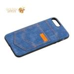 Чехол-накладка XOOMZ для iPhone 7 Plus Pocket PU Back Cover (XIP7019) джинсовый Голубой