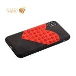 Накладка PC+TPU BLING BALLY luxury  Diamond Case для iPhone X Большое сердце