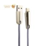 USB дата-кабель Hoco U35 Space shuttle smart power off Type-C (1.2 м) Silver