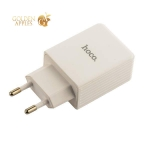 Адаптер питания Hoco C34A Platinum intelligent charger Apple&Android (USB: 5V max 3.0A) Белый