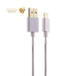USB дата-кабель Deppa D-72120 витой 8-pin Lightning 1.5м Белый