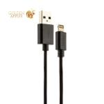 USB дата-кабель Deppa D-72121 витой 8-pin Lightning 1.5м Черный