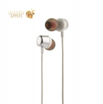 Наушники Hoco M31 Delighted sound Universal Earphones with mic (1.2 м) с микрофоном Silver Серебристые
